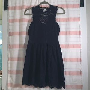 Beautiful navy lace dress, ONLY WORN ONCE